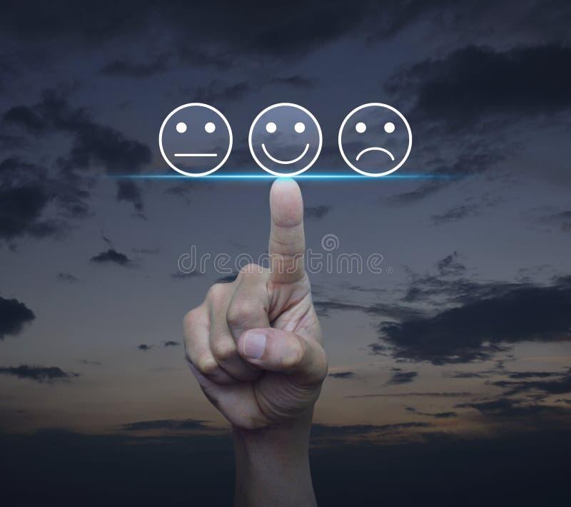 Klient handlowy informacje zwrotne i cenienia usługowy ratingowy pojęcie ilustracji