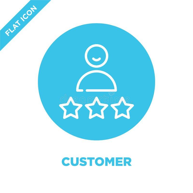 klient ikony wektor Cienka kreskowa klienta konturu ikony wektoru ilustracja klienta symbol dla używa na sieci i wiszącej ozdoby  ilustracja wektor