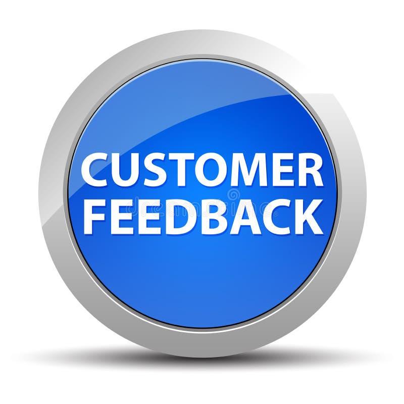 Klient informacje zwrotne round błękitny guzik ilustracja wektor