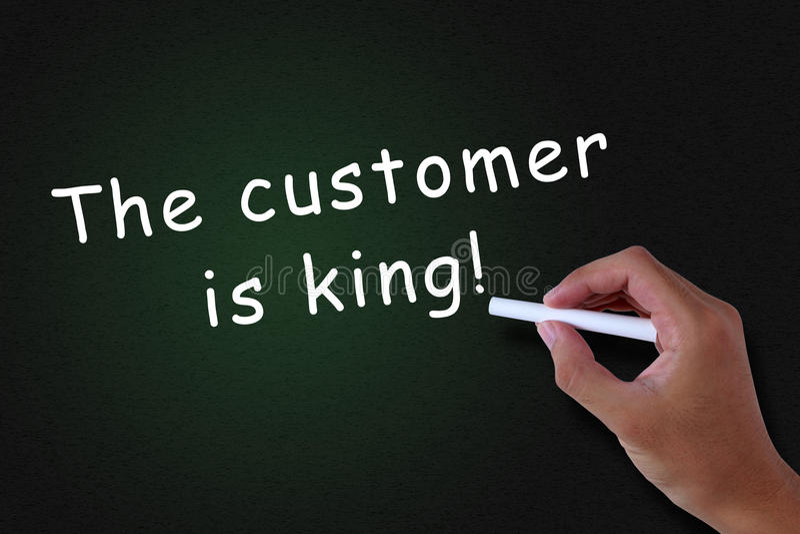 Klient jest królewiątkiem zdjęcie stock