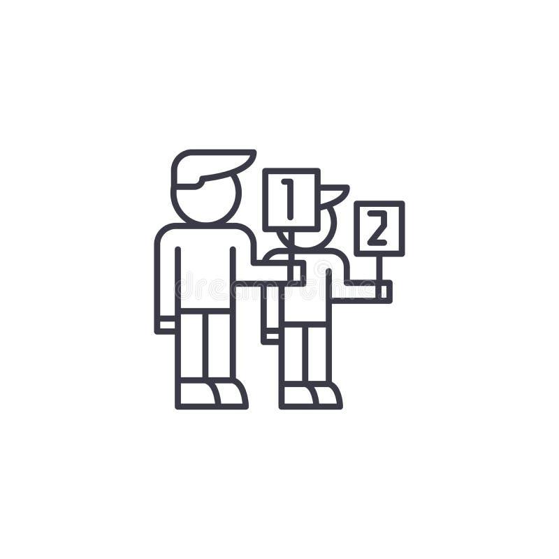 Klient kategorii ikony liniowy pojęcie Klient kategorii wektoru kreskowy znak, symbol, ilustracja ilustracja wektor