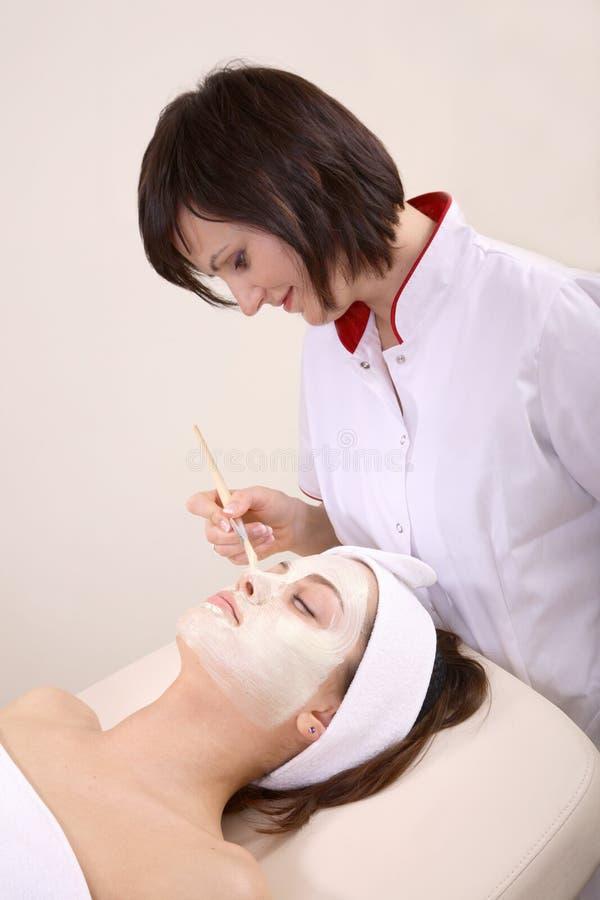 klient kosmetyczka ją zdjęcia stock