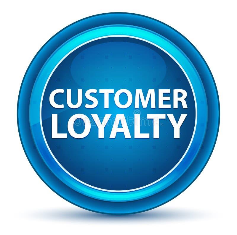 Klient lojalności gałki ocznej Round Błękitny guzik royalty ilustracja