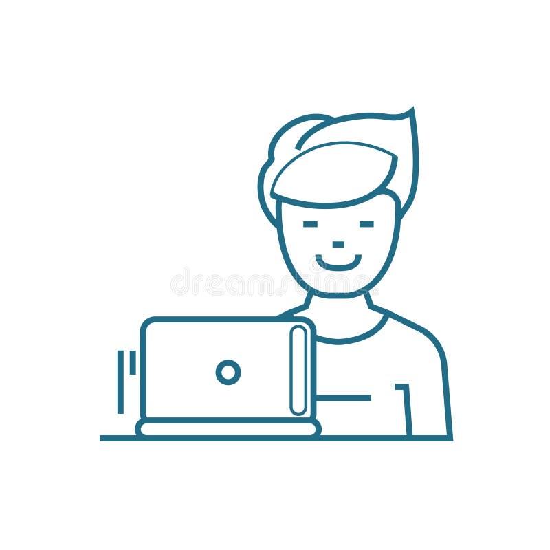 Klient lojalności ikony liniowy pojęcie Klient lojalności linii wektoru znak, symbol, ilustracja royalty ilustracja