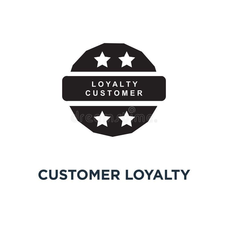 Klient lojalności programa złota ikona Prosta element ilustracja ilustracja wektor