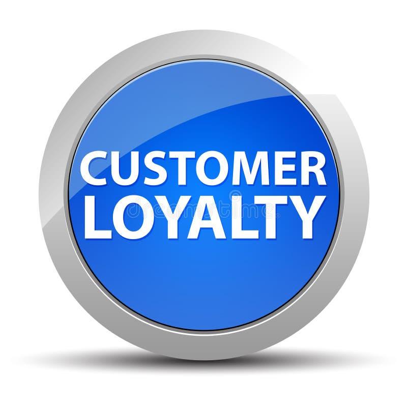 Klient lojalności round błękitny guzik ilustracji