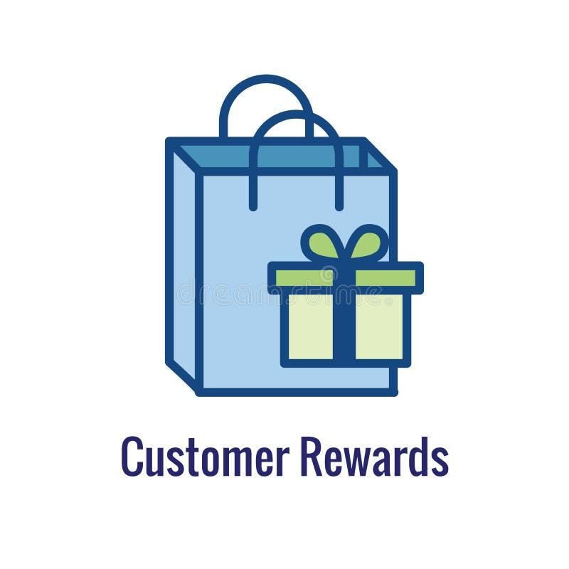 Klient Nagradza ikonę - pieniądze pojęcie i wizerunek nagrody, rabata/ royalty ilustracja