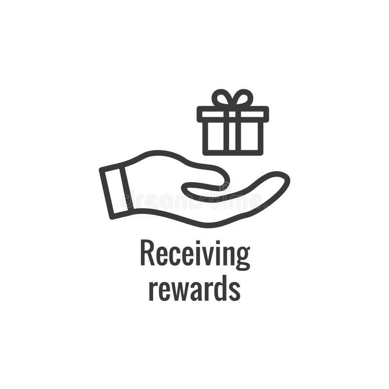 Klient Nagradza ikon? - pieni?dze poj?cie i wizerunek nagrody, rabata/ royalty ilustracja