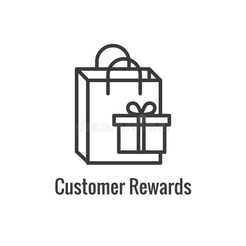 Klient Nagradza ikon? - pieni?dze poj?cie i wizerunek nagrody, rabata/ ilustracji