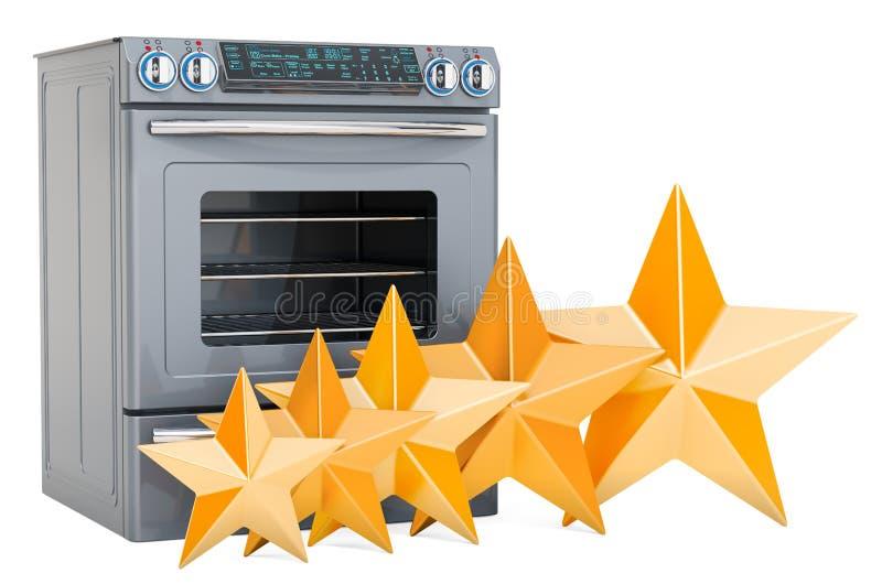 Klient ocena kuchenna kuchenka, pojęcie ?wiadczenia 3 d ilustracja wektor
