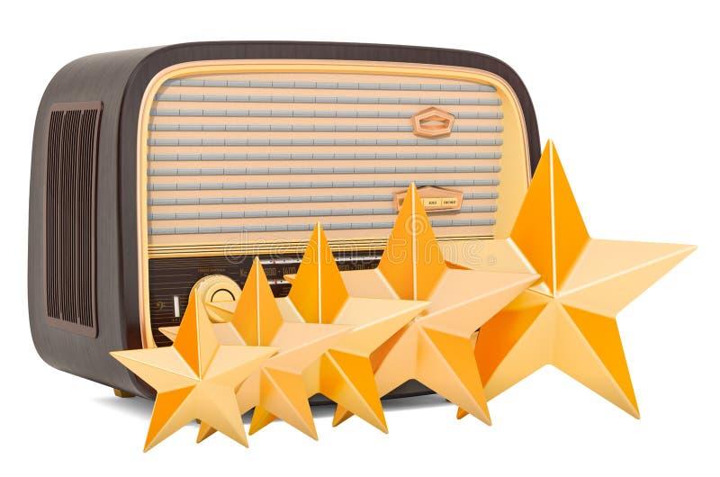 Klient ocena radiowy odbiorca, pojęcie ?wiadczenia 3 d ilustracji