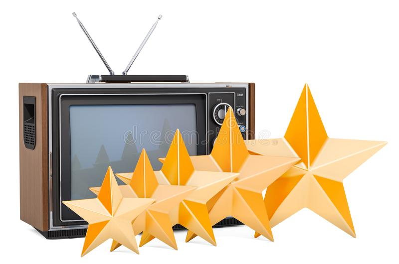 Klient ocena telewizor, pojęcie ?wiadczenia 3 d ilustracji