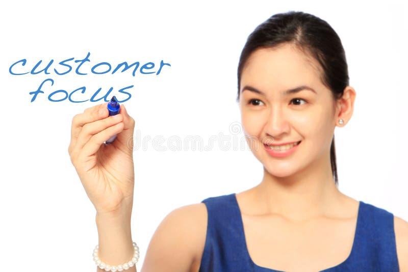 Klient ostrość zdjęcie stock