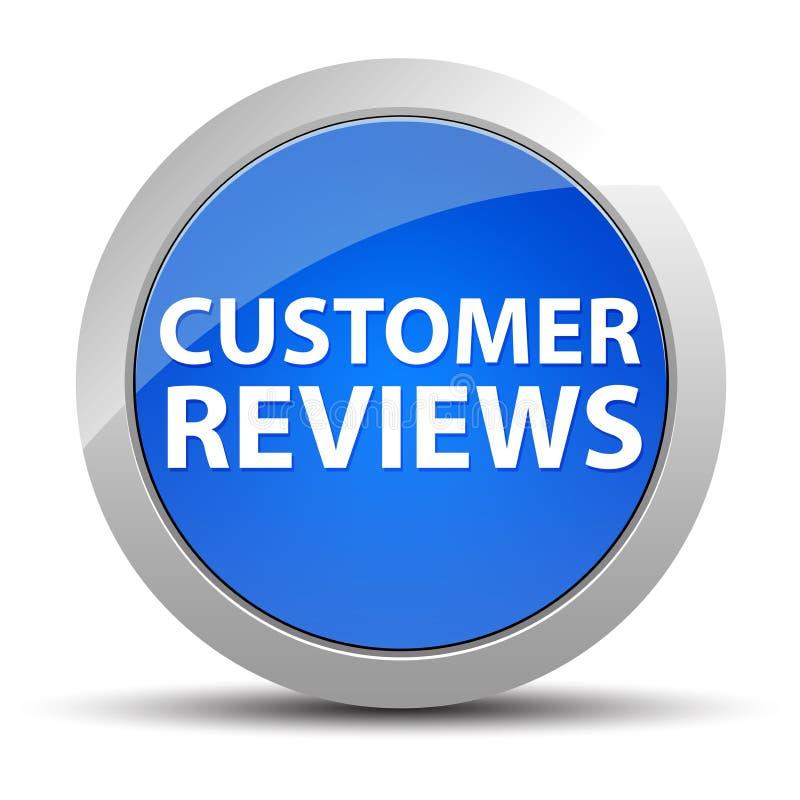 Klient Przegląda błękitnego round guzika ilustracji