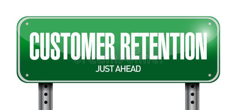 klient retenci znaka ilustracja ilustracja wektor