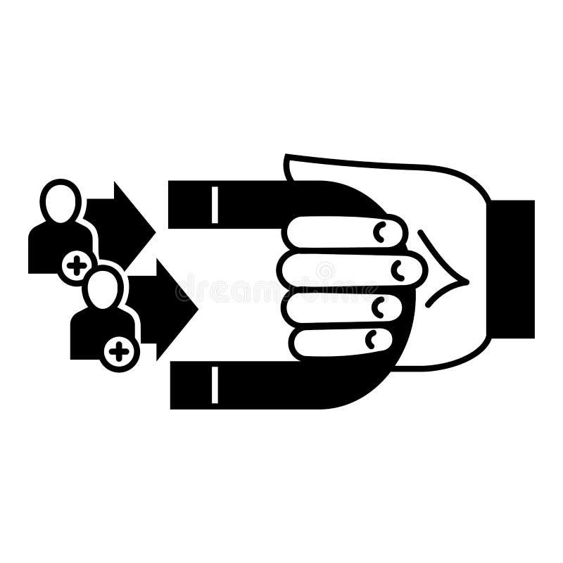 Klient retencyjna ikona, prosty styl royalty ilustracja