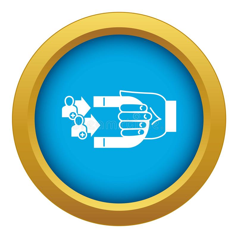 Klient retencyjnej ikony błękitny wektor odizolowywający ilustracji