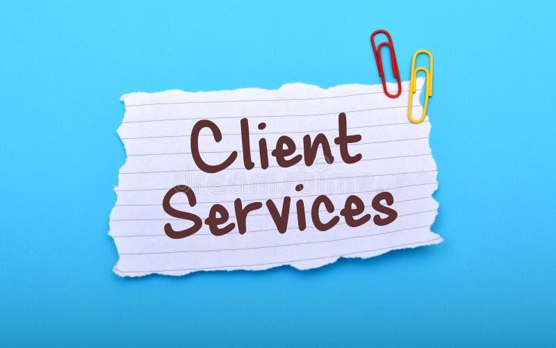 Klient usługa ręka pisać na Papierowym zbliżeniu fotografia stock