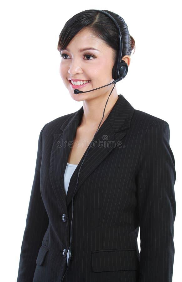 klienta żeńska operatora usługa zdjęcie stock