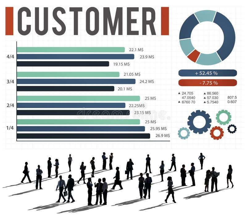 Klienta celu Targowy Biznesowy Korporacyjny pojęcie ilustracja wektor