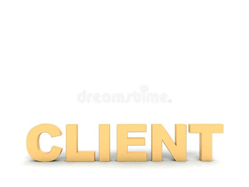 klienta dimensional tekst trzy ilustracja wektor
