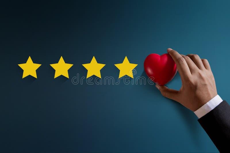 Klienta doświadczenia pojęcie, Najlepszy Znakomite usługa Oszacowywa dla zdjęcia stock