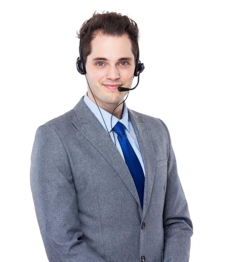 klienta męska operatora usługa zdjęcie stock