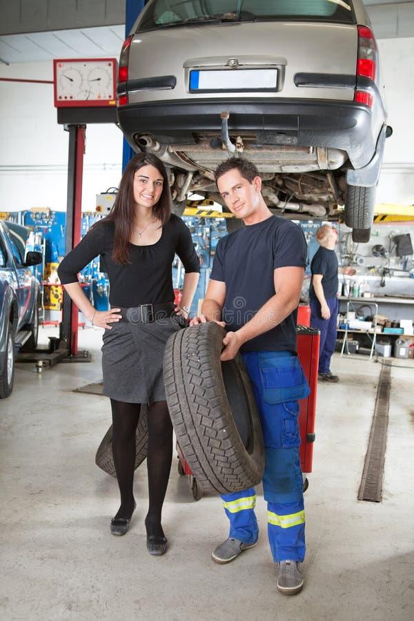 klienta mechanika seans opona zdjęcie stock