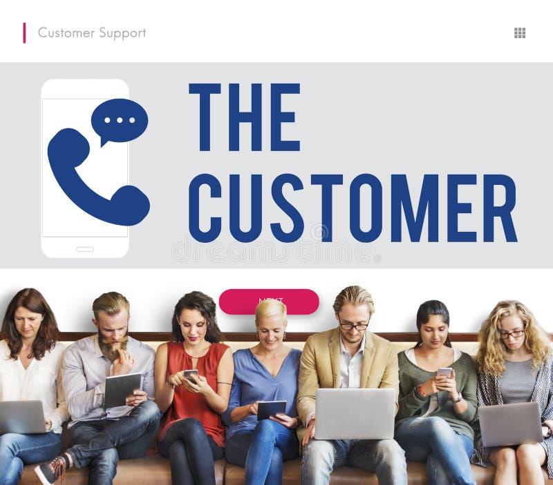 Klienta telefonu ikony Komunikacyjny pojęcie zdjęcia stock