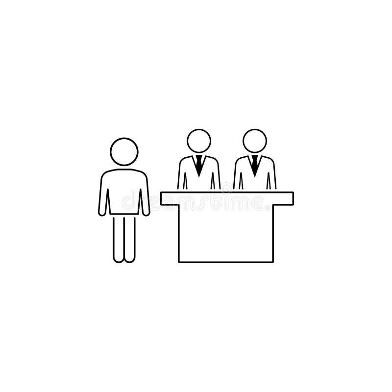 klientsymbol Beståndsdel av affärssymbolen för mobila begrepps- och rengöringsdukapps Den tunna linjen klientsymbol kan användas  stock illustrationer