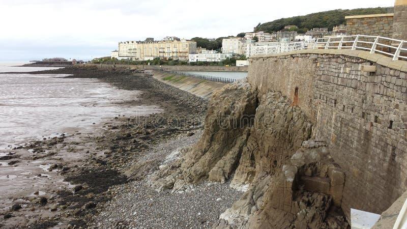 Kliff πέρα από τον Ατλαντικό Ωκεανό στοκ εικόνες με δικαίωμα ελεύθερης χρήσης