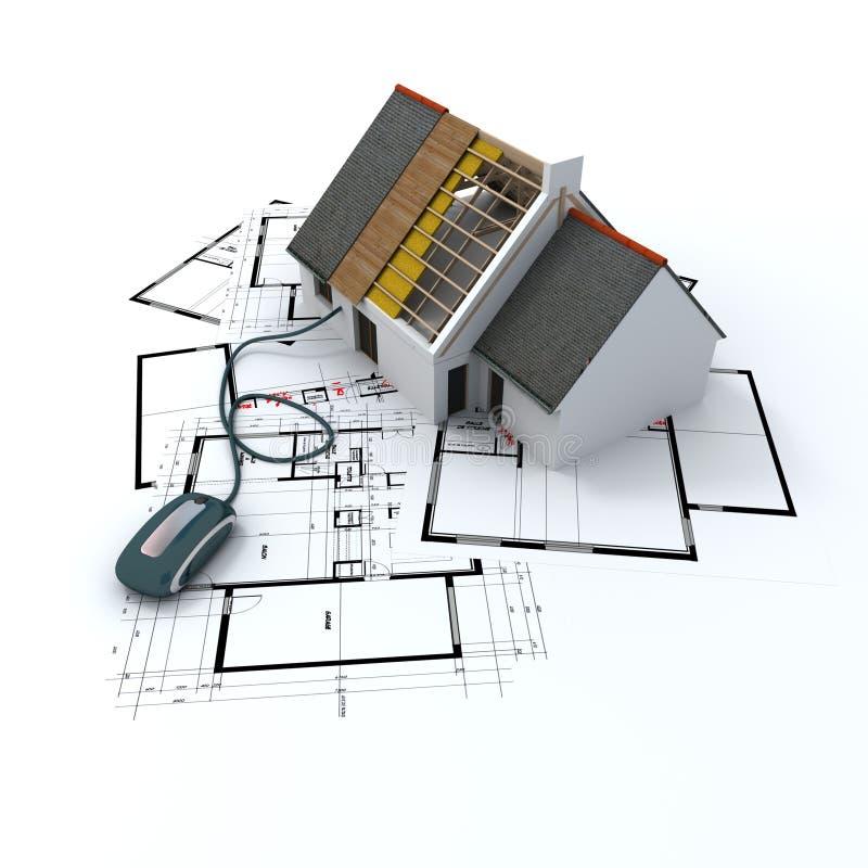 Klik architectuur stock illustratie