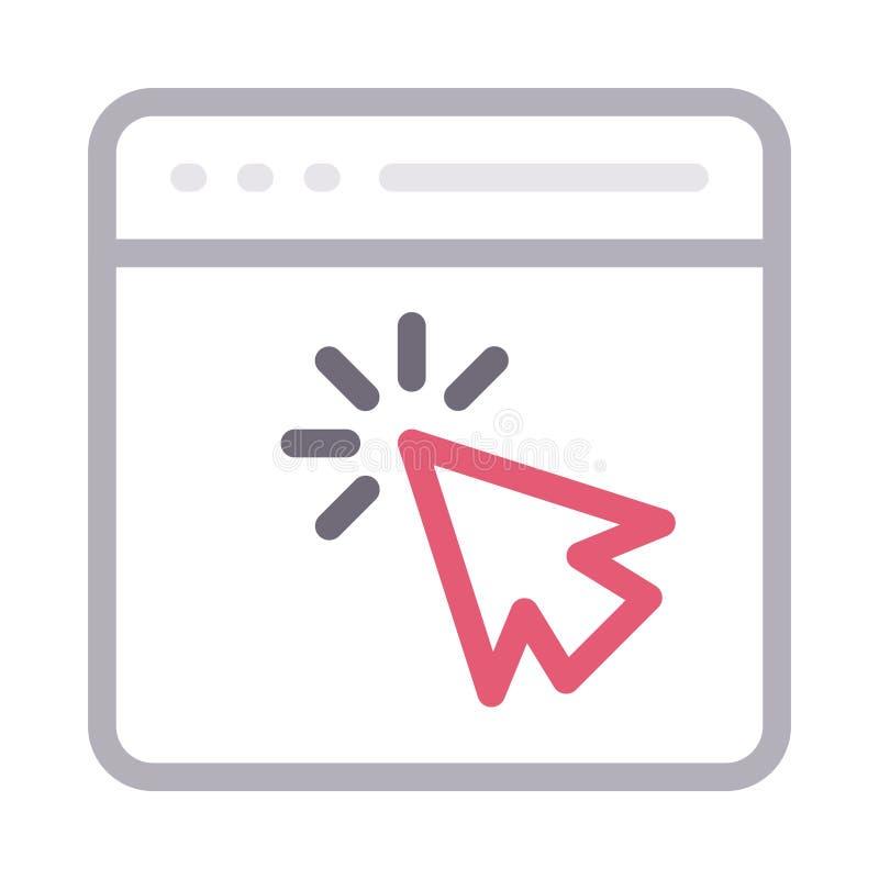 Klik browser dun rassenbarri?re vectorpictogram stock illustratie