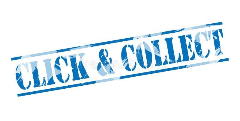 Klik en verzamel blauwe zegel vector illustratie