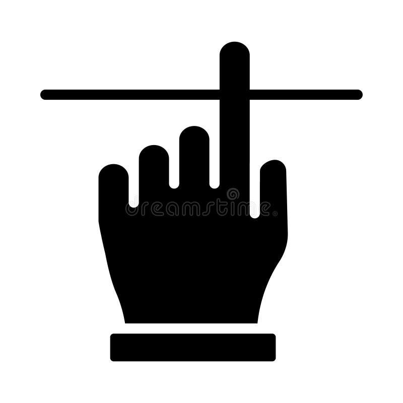 Klik glyph vlak vectorpictogram royalty-vrije illustratie
