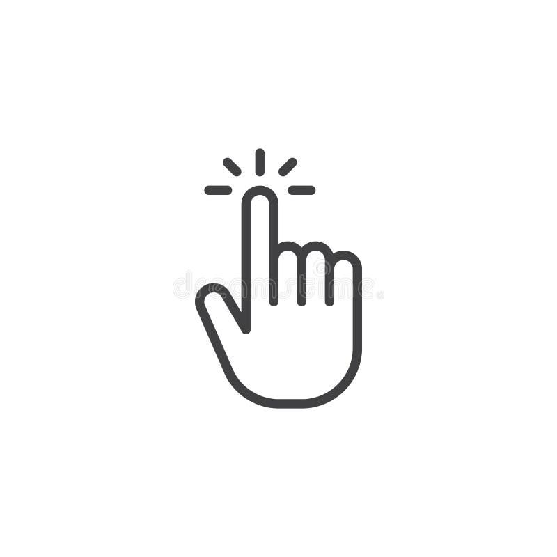 Klik het pictogram van het handoverzicht vector illustratie
