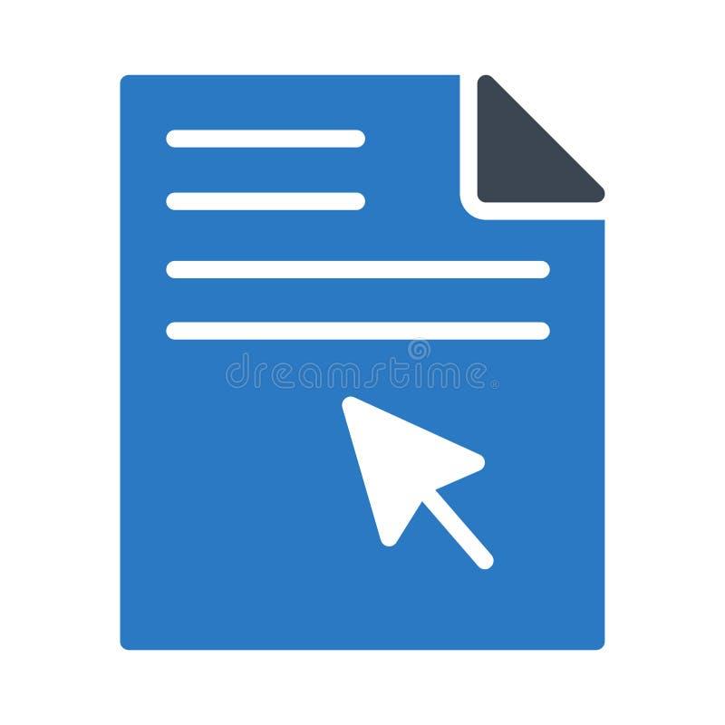 Klik het vectorpictogram van de dossier glyph kleur vector illustratie