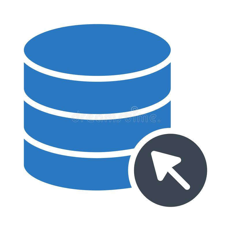 Klik het vectorpictogram van de server glyph kleur stock illustratie