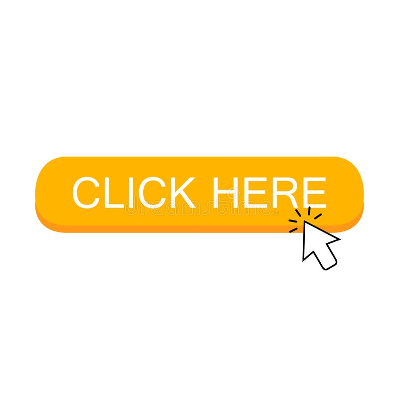 Klik hier knoop met de wijzer van de pijlcurseur het klikken stock illustratie