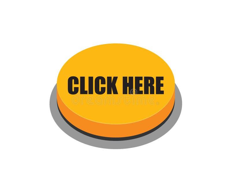 Klik hier knoopsinaasappel stock illustratie