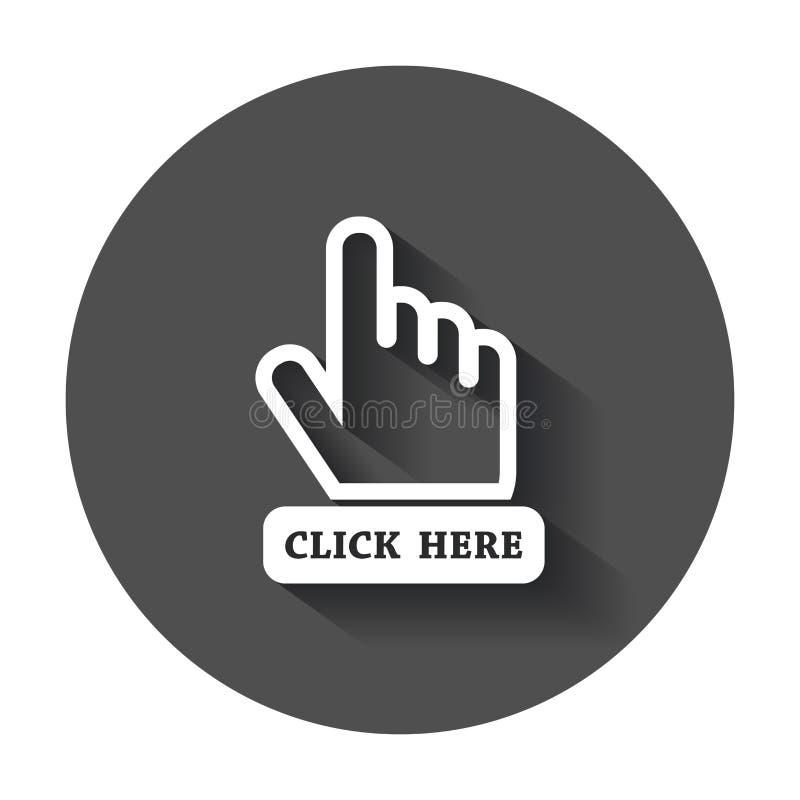 Klik hier pictogram stock illustratie