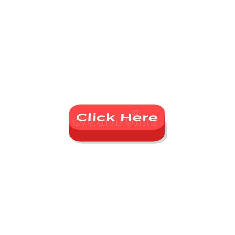 Klik hier rode knoop vector illustratie