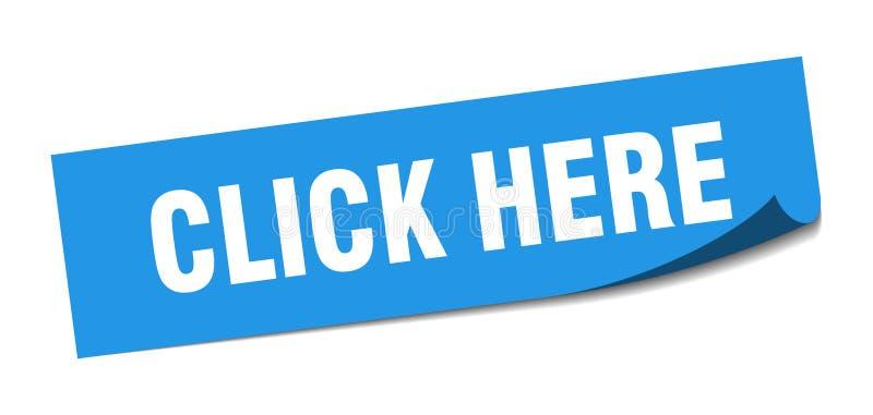 klik hier sticker royalty-vrije illustratie