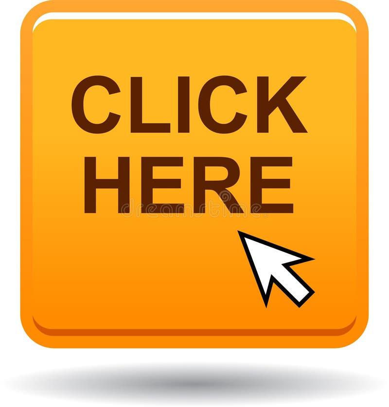 Klik hier Webknoop vector illustratie