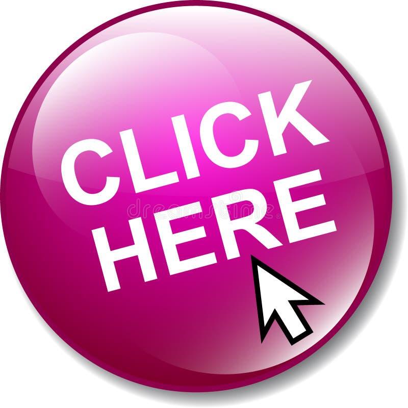 Klik hier Webknoop royalty-vrije illustratie