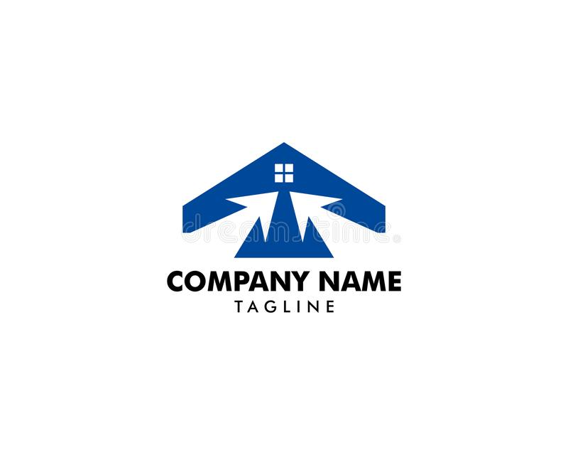 Klik Huis Logo Template Design Vector royalty-vrije illustratie