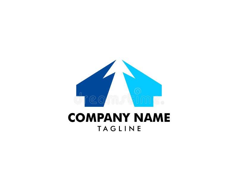 Klik Huis Logo Template Design Vector stock illustratie
