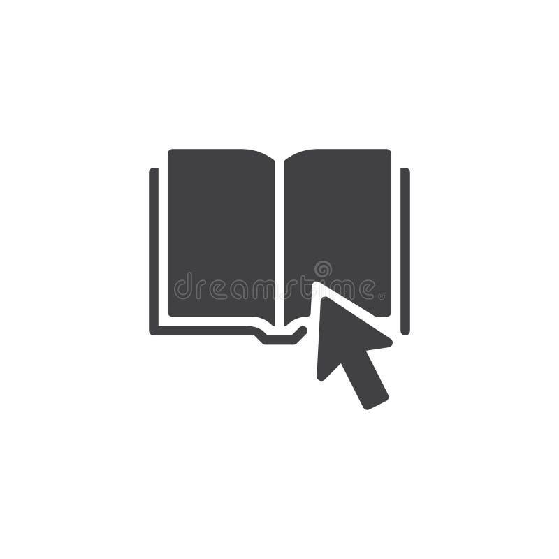 Klik op Boek vectorpictogram stock illustratie