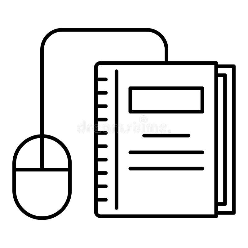Klik op boekpictogram, schets stijl vector illustratie