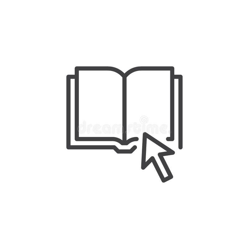 Klik op het pictogram van het Boekoverzicht royalty-vrije illustratie